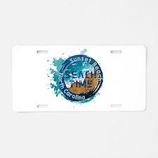 North Carolina - Sunset Bea Aluminum License Plate