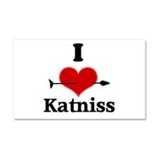 I Heart Katniss Car Magnet 20 x 12