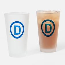 Democratic D Design Drinking Glass