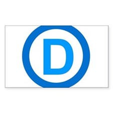 Democratic D Design Decal