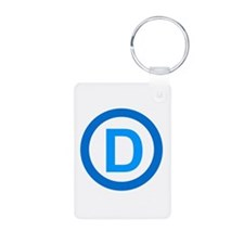 Democratic D Design Keychains