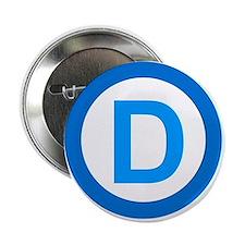 "Democratic D Design 2.25"" Button"