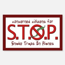 """Citizens for Snake Traps on Planes"" Decal"