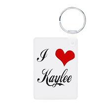 I Love Kaylee Aluminum Keychains