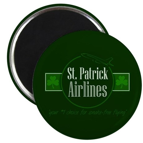 """""""St. Patrick Airlines"""" 2.25"""" Magnet (100 pack)"""