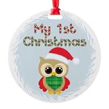 My 1st Christmas owl (boy) Ornament