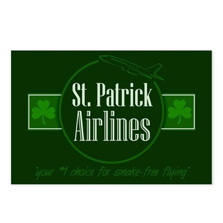 """""""St. Patrick Airlines"""" Postcards (Package of 8)"""
