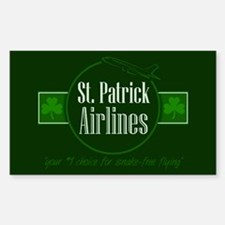 """St. Patrick Airlines"" Rectangle Decal"