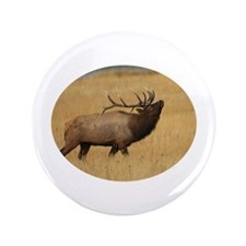 "Bull Elk with Head Back 3.5"" Button"