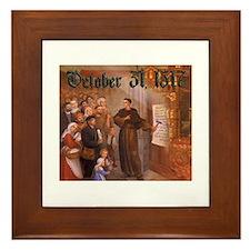 Reformation Day- October 31, 1517 Framed Tile