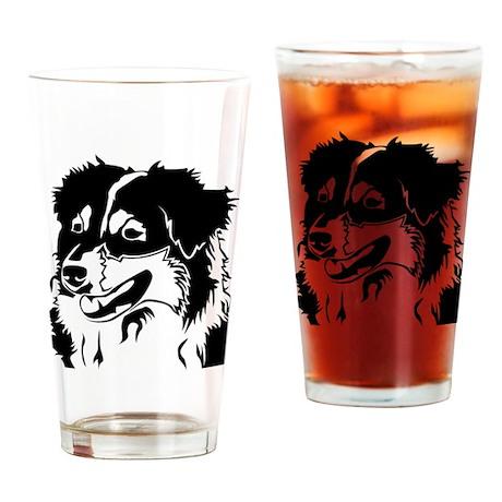 AUSSIE HEAD Drinking Glass