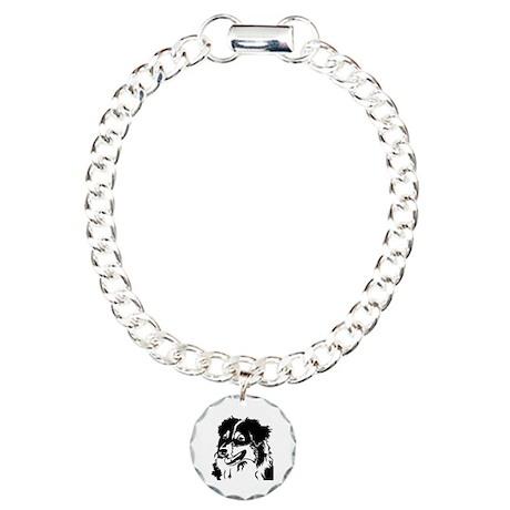 AUSSIE HEAD Charm Bracelet, One Charm