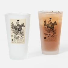 1903 Pocono Mountains Ad Drinking Glass