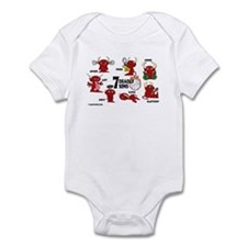 7 Deadly Sins Volleyball Infant Bodysuit