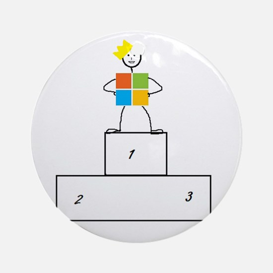 Microsoft is the winner Ornament (Round)