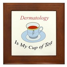 Dermatology is my cup of tea Framed Tile