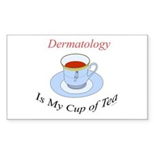 Dermatology is my cup of tea Rectangle Decal