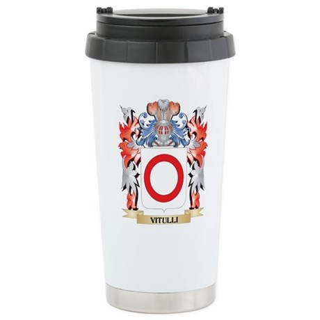 Vitulli Coat of Arms - Stainless Steel Travel Mug