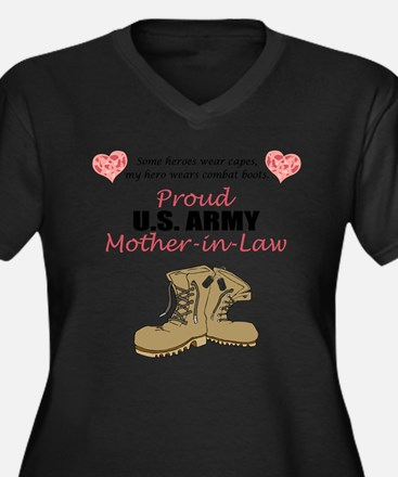 Proud US Army Mother-In-Law Plus Size T-Shirt