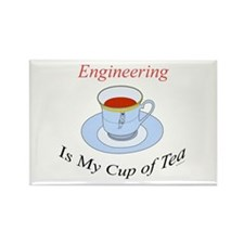 Engineering is my cup of tea Rectangle Magnet