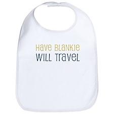 Have Blankie Will Travel Bib