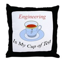 Engineering is my cup of tea Throw Pillow
