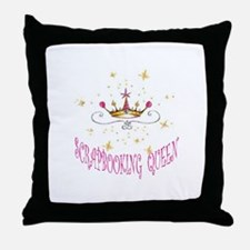 SCRAPBOOKING QUEEN Throw Pillow