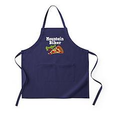 Mountain Biker Funny Pizza Apron (dark)