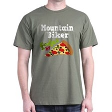 Mountain Biker Funny Pizza T-Shirt