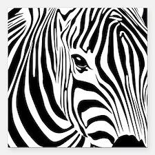 "Zebra Print Square Car Magnet 3"" x 3"""
