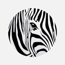 "Zebra Print 3.5"" Button"