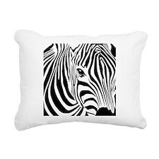 Zebra Print Rectangular Canvas Pillow