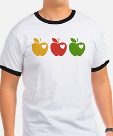 Apple Hearts Love to Teach T