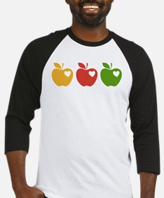 Apple Hearts Love to Teach Baseball Jersey