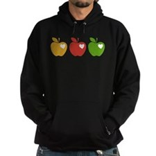 Apple Hearts Love to Teach Hoodie