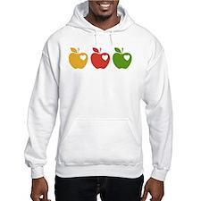 Apple Hearts Love to Teach Hoodie
