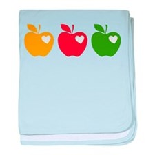 Apple Hearts Love to Teach baby blanket