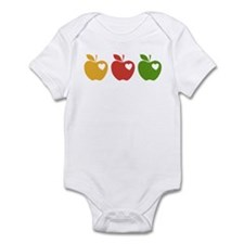 Apple Hearts Love to Teach Infant Bodysuit