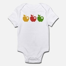 Apple Hearts Love to Teach Infant Bodysuit