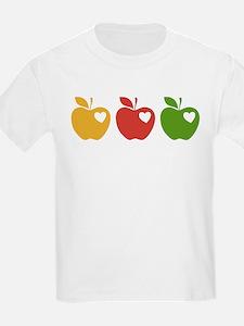 Apple Hearts Love to Teach T-Shirt