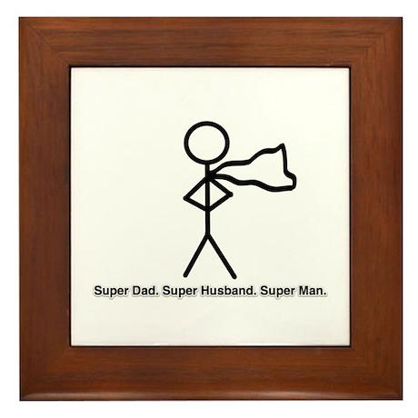 Super Man Framed Tile