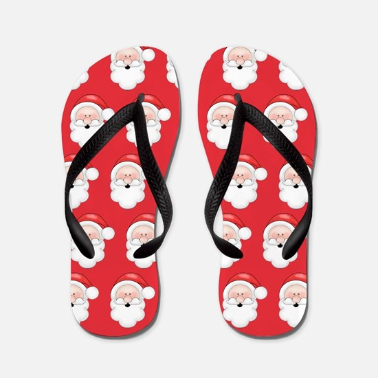 Fun Christmas Santa Claus Pattern Flip Flops
