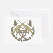 Zombie Response Team Greeting Card