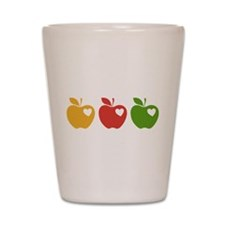 Apple Hearts Love to Teach Shot Glass