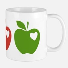 Apple Hearts Love to Teach Mug