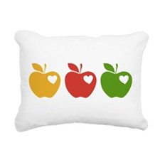 Apple Hearts Love to Teach Rectangular Canvas Pill