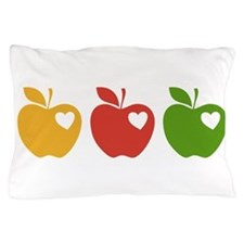 Apple Hearts Love to Teach Pillow Case