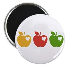"""Apple Hearts Love to Teach 2.25"""" Magnet (100 pack)"""