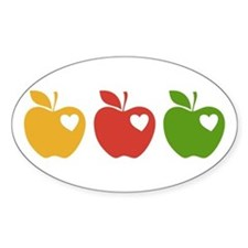 Apple Hearts Love to Teach Stickers