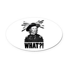 WHAT?! Oval Car Magnet